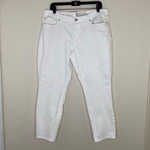 Gap White Skinny Roll Up Jeans Women's 18